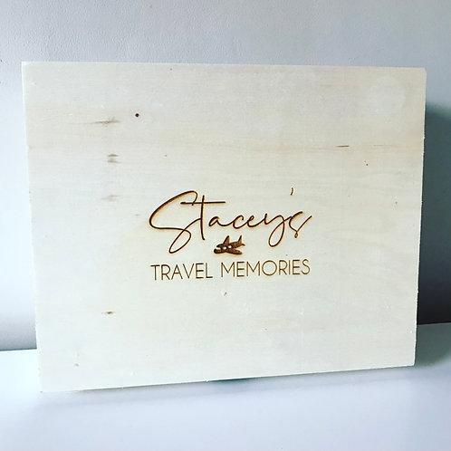 Personalised Engraved Wooden Keepsake Box Large Birthday, Anniversary, Gift