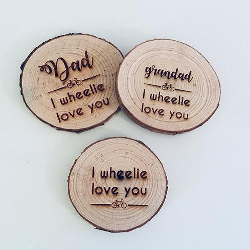 Personalised Engraved Wooden Tree Slice Coaster