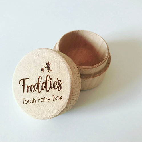 Tooth Fairy Wooden Pot Engraved With Personalised Name