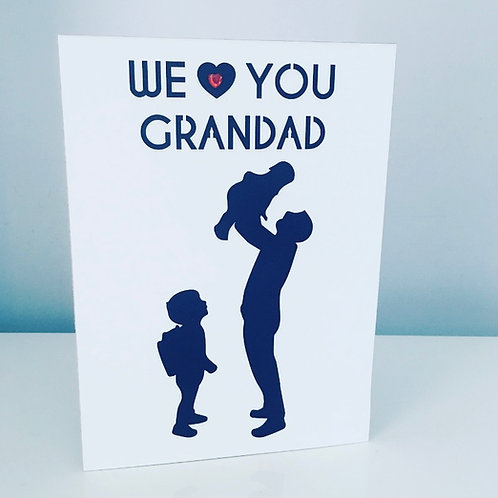 A5 Laser Cut Family Silhouette Card Personalised
