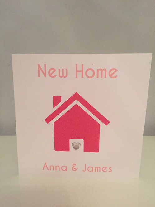 Personalised Printed House Design New Home Card