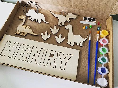 Dinosaur Personalised Postal Paint Pack Arts & Crafts