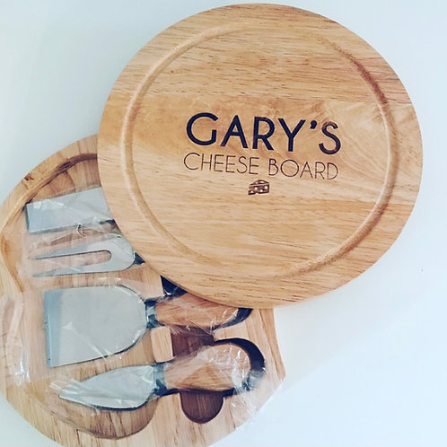 Personalised Engraved Cheeseboard Serving Set Gift