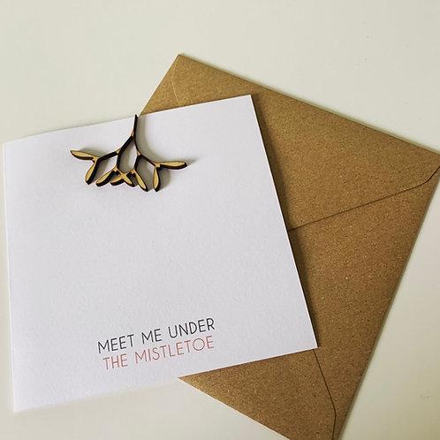 Meet Me Under The Mistletoe Ply Topper Christmas Card