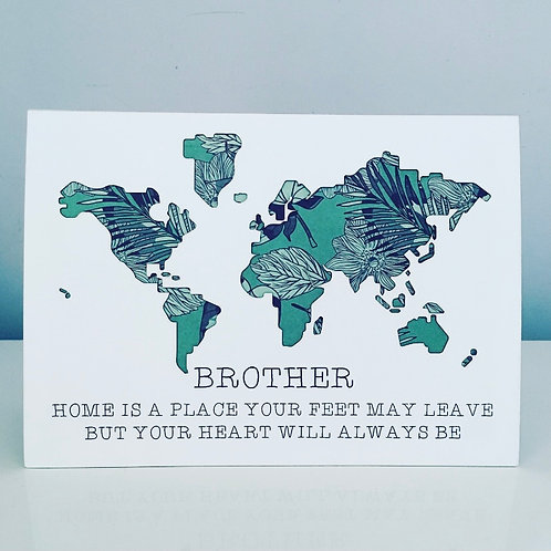 A5 World Map 3D Laser Cut Card With Personalised Text