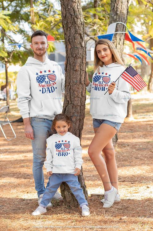 All American Dad, Mom, Bro, Boy, Girl, Stud