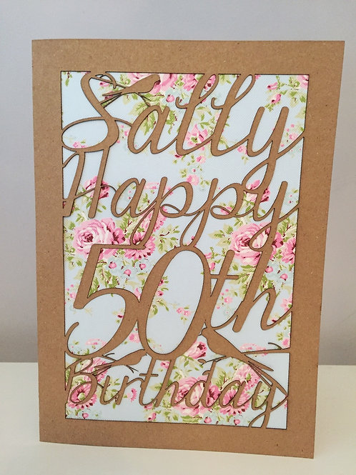 Personalised Laser Cut Birthday Card A5