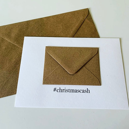 #Christmascash Christmas Card with money pocket envelope