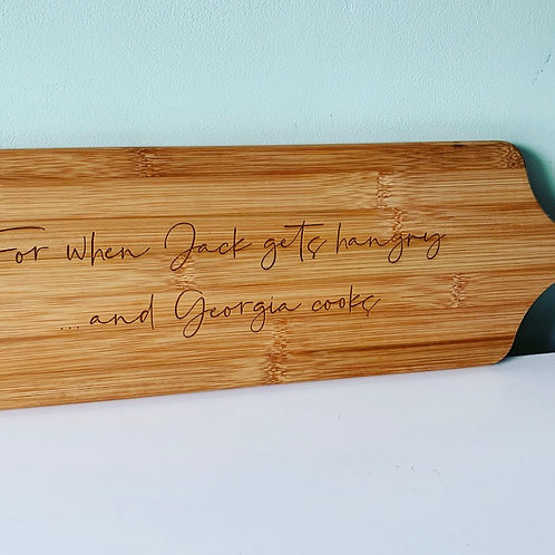 Funny Hangry Couple Quote Personalised Engraved Paddle Board