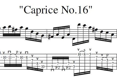 Caprice No.16 (arr) - Full Score