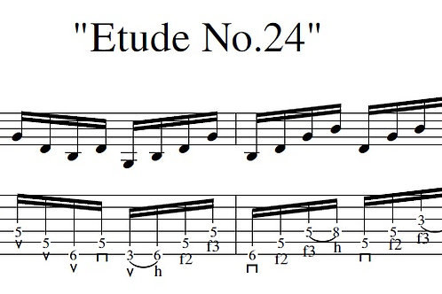 Etude No.24 (arr) - Full Score