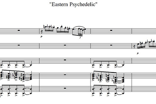 Eastern Psychedelic - Full Score