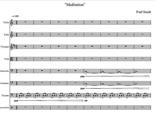 Meditation - Full Score