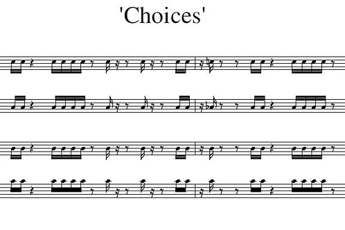 Choices - Full Score