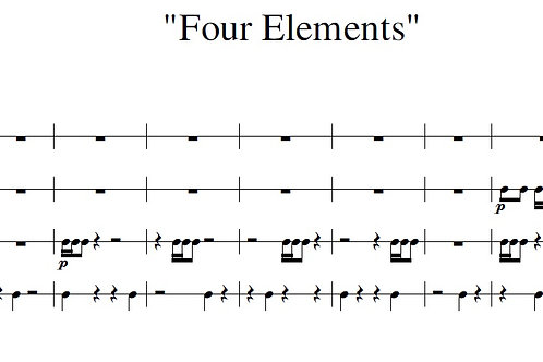 Four Elements - Full Score
