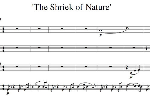 The Shriek of Nature - Full Score