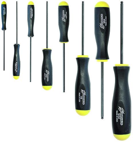 Bondhus 10632 Set of 8 Balldriver Screwdrivers, ProGuard Finish, sizes .050-5/32