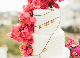 Wedding in Greece, Ios island | Bougainvillea-inspired Grecian wedding editorial