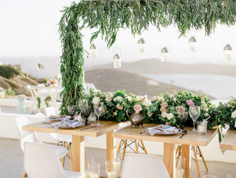 Blush Bohemian Wedding at Ios Club as featured in Style Me Pretty