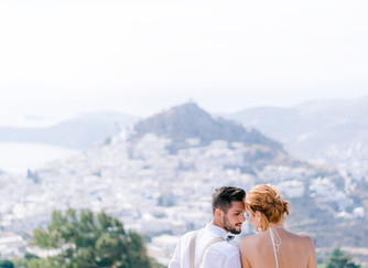 Once In A Blue Moon Wedding In The Greek Isles