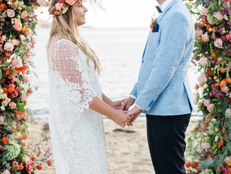 Boho Wedding at Ios Island Filled with Fall Florals