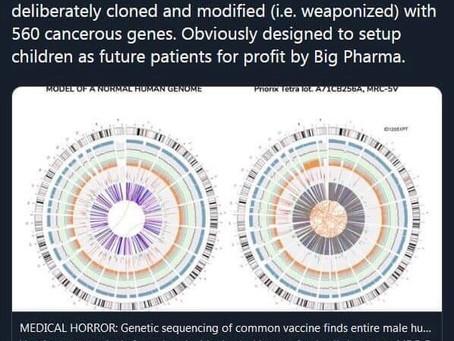 "560 cancer genes, abnormal DNA, genetic ""modification"" of potentially hazardous genes...."