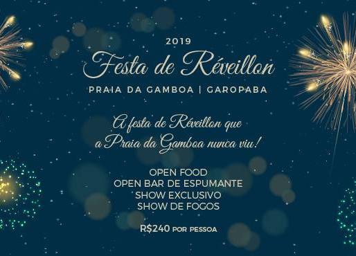 Festa de Réveillon no Mamanê Restobar Praia da Gamboa