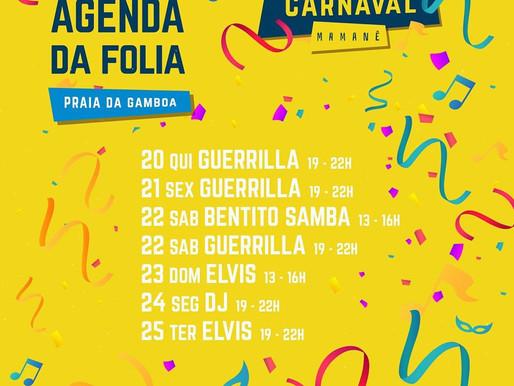 Confira a agenda do Carnaval no Mamanê  🎉