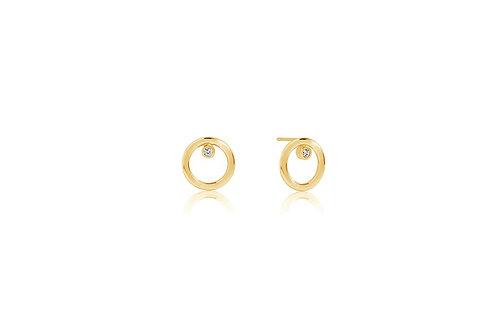 Ohrringe Valenza Uno Piccolo - 18K Gold plattiert mit weißen Zirkonia  Artikelnu