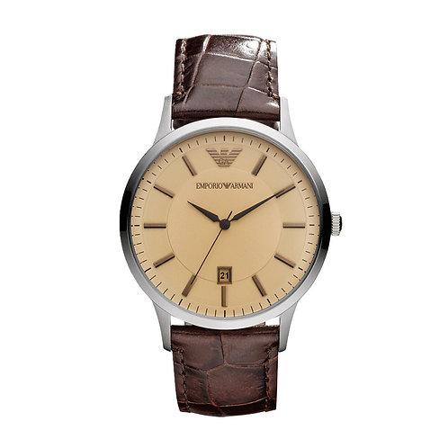 Emporio Armani Herren Armbanduhr Lederband AR2427