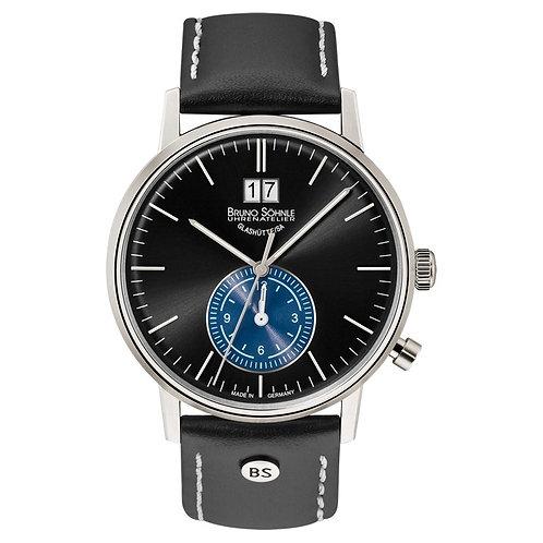 Bruno Söhnle Herrenuhr GMT mit Leder Armband 17-13180-741