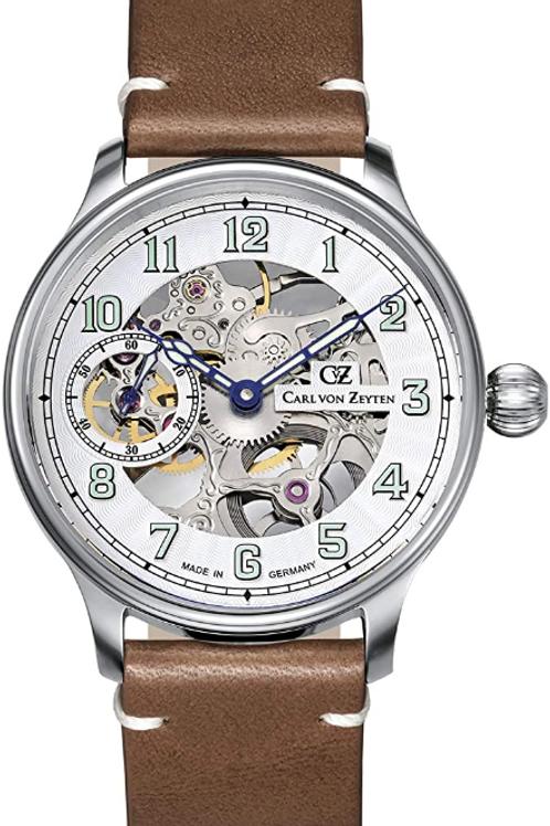 Carl von Zeyten Herren Uhr Armbanduhr Automatik LAHR Silber CVZ0021WH