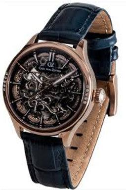 Unisex Skeleton Automatik Uhr mit Leder Armband CVZ0057RBL