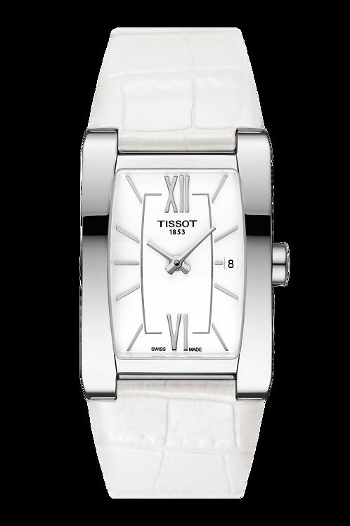 Tissot Damenuhr Analog Quarz Uhr mit Leder Armband T1053091601800