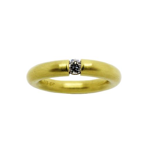 Gelbgold 585/- Damenring mit Brillant 0,16 TW/SI UP 5020