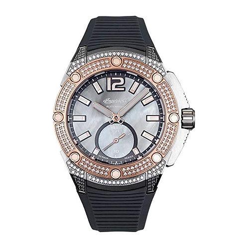 Ingersoll Damen Analog Automatik Uhr mit Plastik Armband IN1104GY
