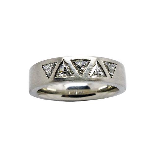 Damenring Platin 950/-  mit Diamanten 0,56KT TW/SI