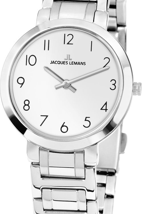 JACQUES LEMANS Damenuhr London Metallband Edelstahl 1-1932A