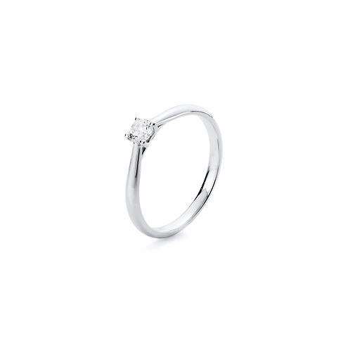 Damenring Weißgold 585/-  Ring 4er-Krappe 14 kt WG