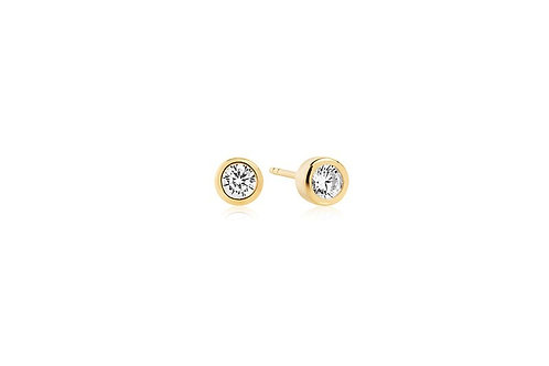 Ohrringe Sardinien Piccolo - Gold plattiert mit weißen Zirkonia SJ-E1051-CZ(YG)