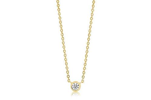 Halskette Sardinien Uno - 18K Gold plattiert mit weiß Zirkon SJ-C1016-CZ(YG)