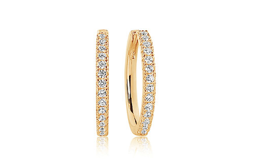 Ohrringe Ellera Grande - 18K Gold plattiert mit weißen Zirkonia SJ-E2869-CZ(YG)
