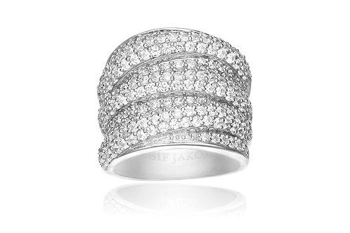Catania Ring mit weißen Zirkonia SJ-E1053-CZ/54