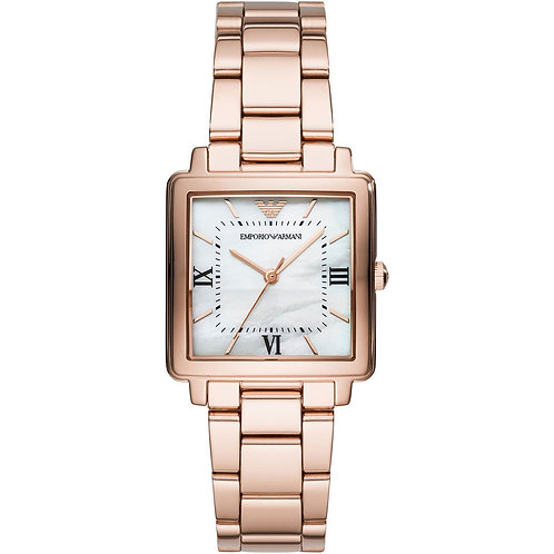 Emporio Armani Damen Analog Quarz Uhr mit Edelstahl Armband AR11177