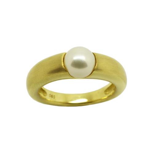 Perlenring Gelbgold 585/- Damenring NR. 52245