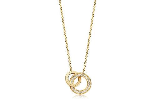 Halskette Prato Due - 18K Gold plattiert mit weißen Zirkonia