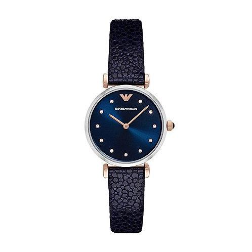 Emporio Armani Damen-Uhr Lederband Quarz AR1989