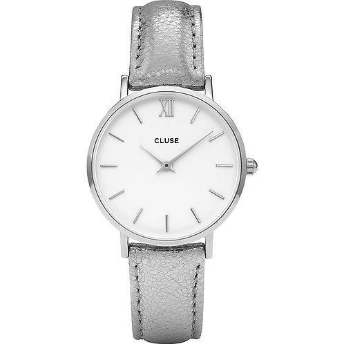 Cluse Damenuhr Minuit Silver White  CL30039