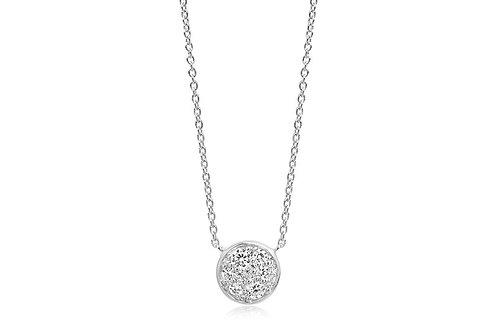 Halskette Novara mit weißen Zirkonia  Artikelnummer SJ-C1056-CZ