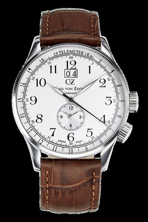 Carl von Zeyten GMT Etterlin Herrenuhr braun/silber CVZ0006SL